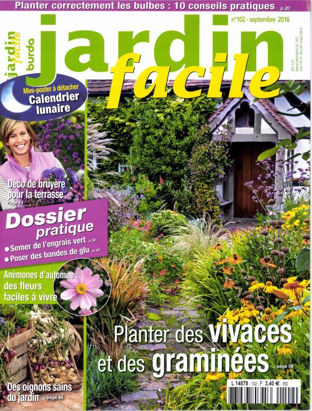 jardin facile n 102 abonnement jardin facile abonnement magazine par. Black Bedroom Furniture Sets. Home Design Ideas