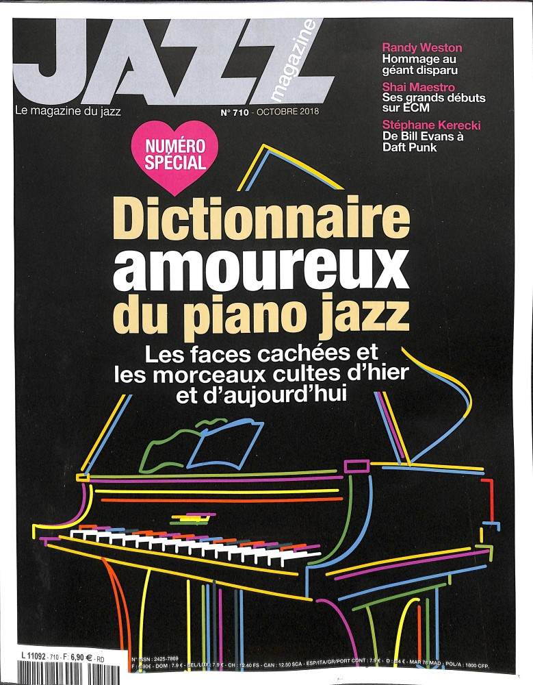 Jazz magazine N° 710 September 2018