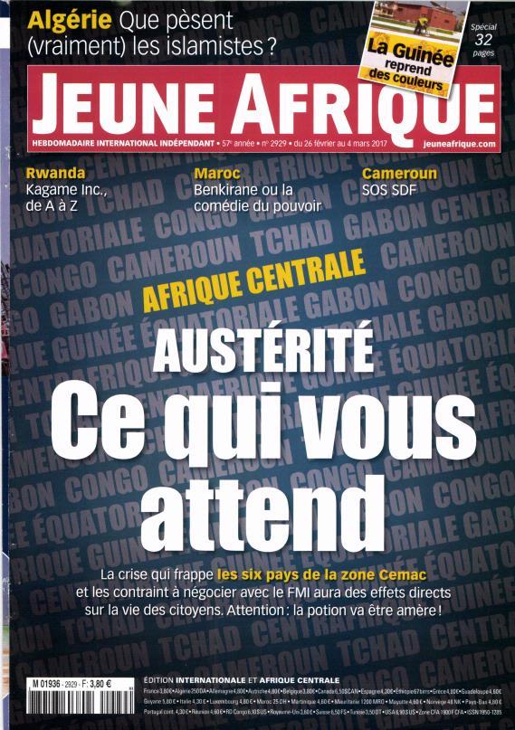 Jeune Afrique N° 2929 Février 2017