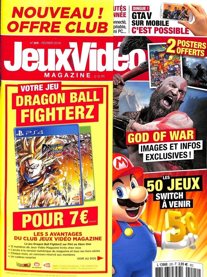 Jeux vidéo magazine N° 205 Janvier 2018