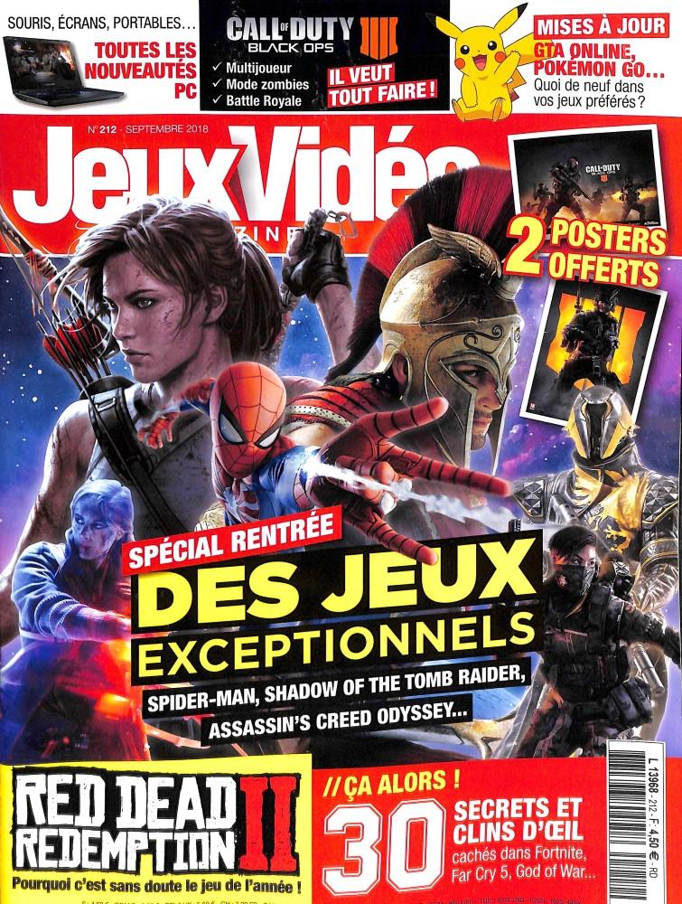Jeux vidéo magazine N° 213 September 2018