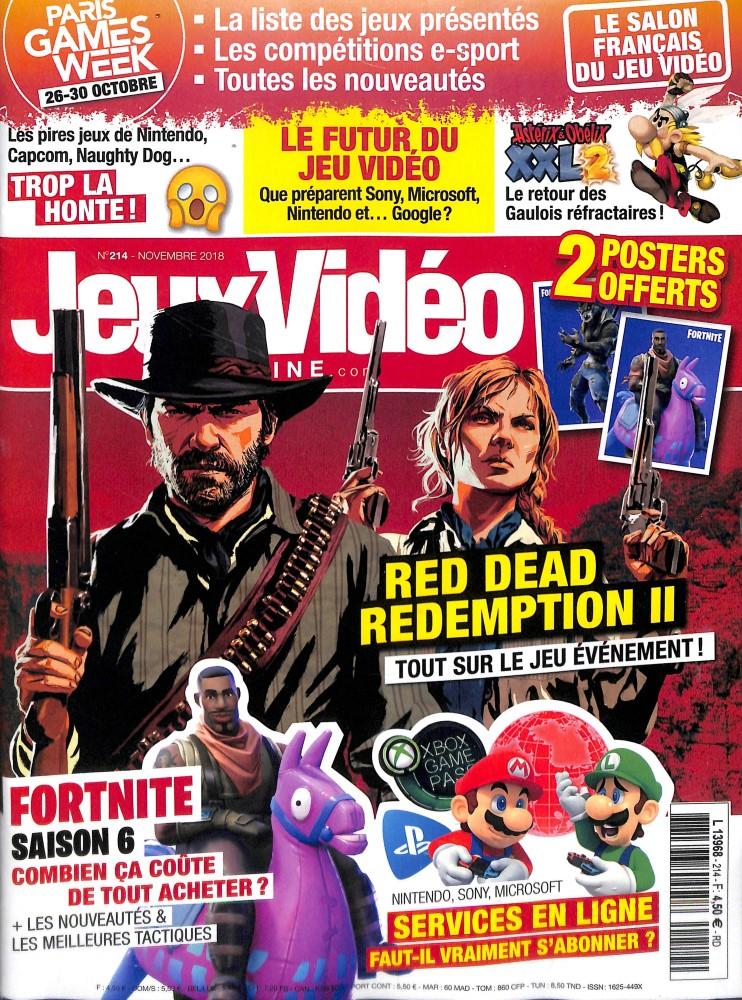 Jeux vidéo magazine N° 215 November 2018