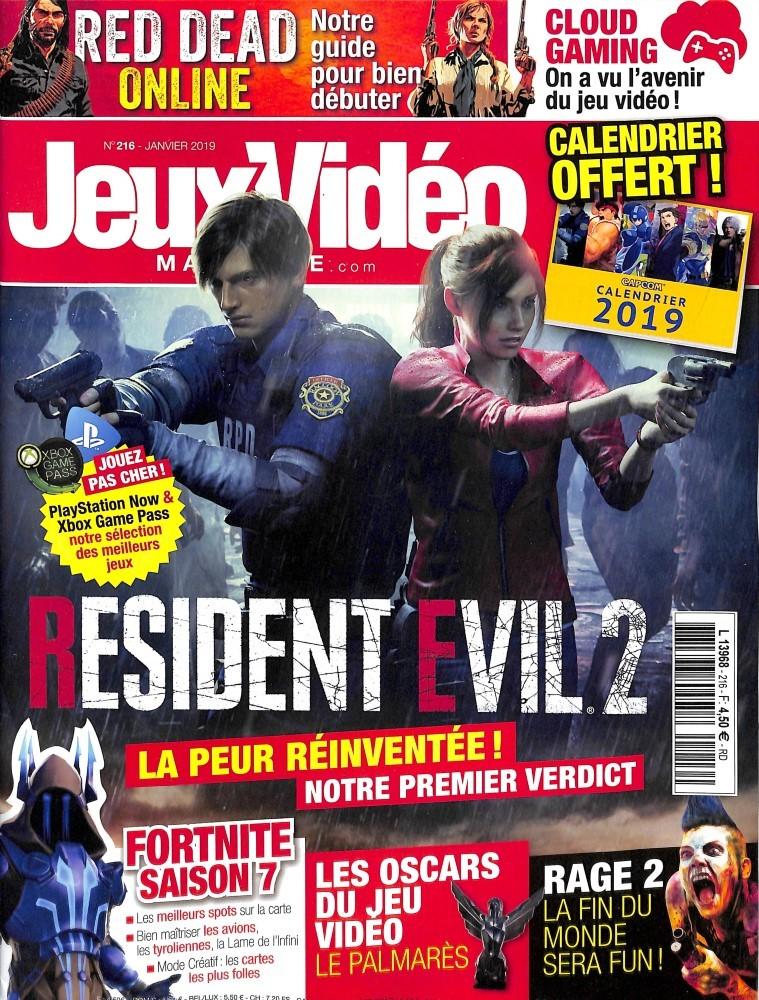 Jeux vidéo magazine N° 217 Janvier 2019