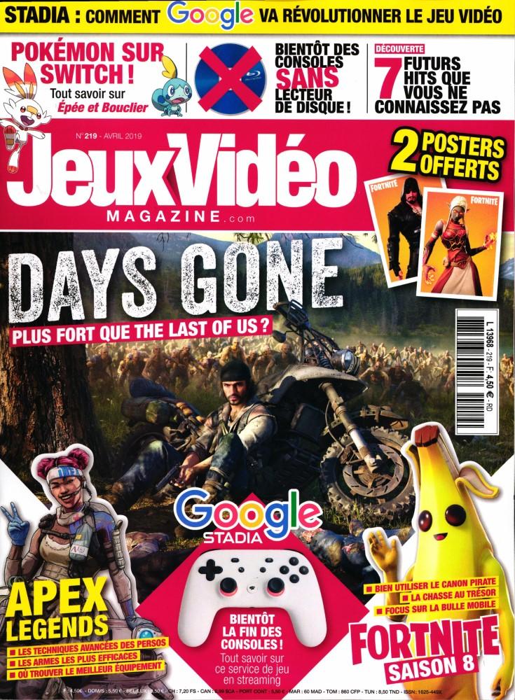 Jeux vidéo magazine N° 220 Avril 2019