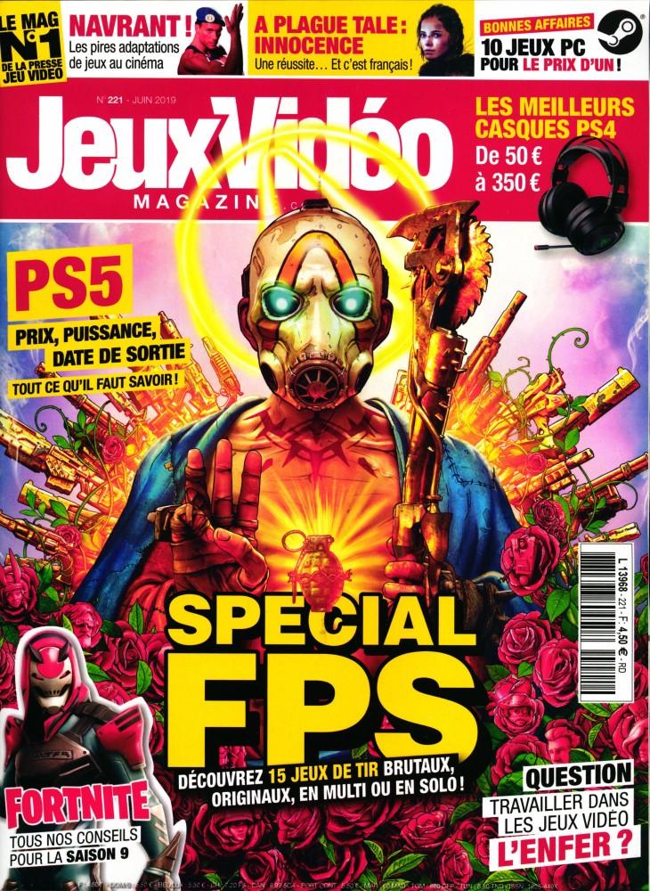 Jeux vidéo magazine N° 221 Mai 2019