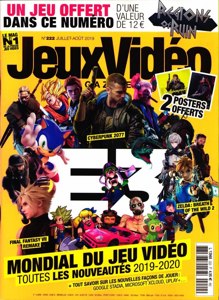 Jeux vidéo magazine N° 222 Juin 2019