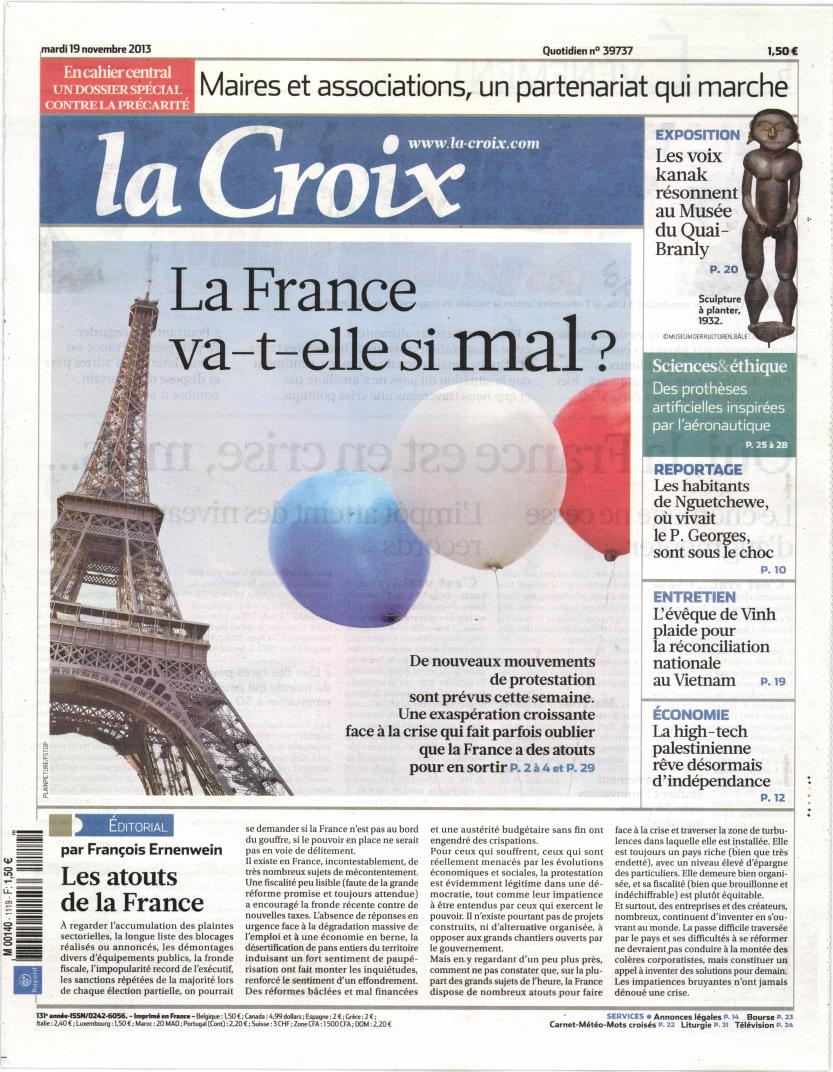 La Croix N° 322 Mars 2019