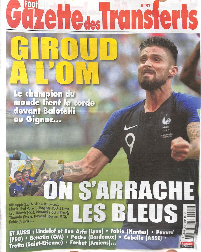 La Gazette des Transferts N° 97 August 2018