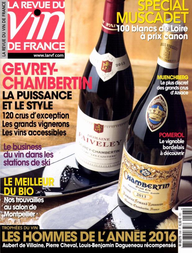 La revue du vin de france n 598 abonnement la revue du for Revue des vins de france