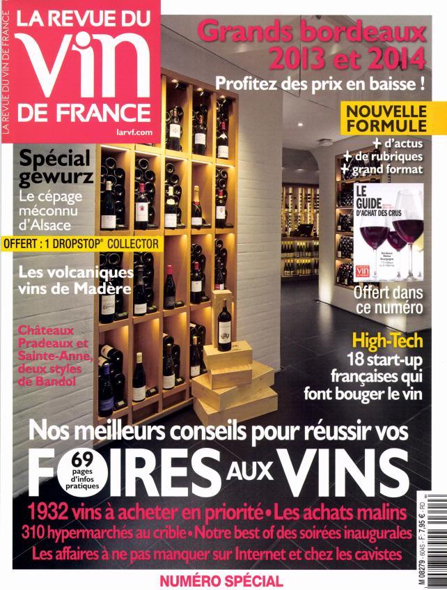 La revue du vin de france n 604 abonnement la revue du for Revue vin de france