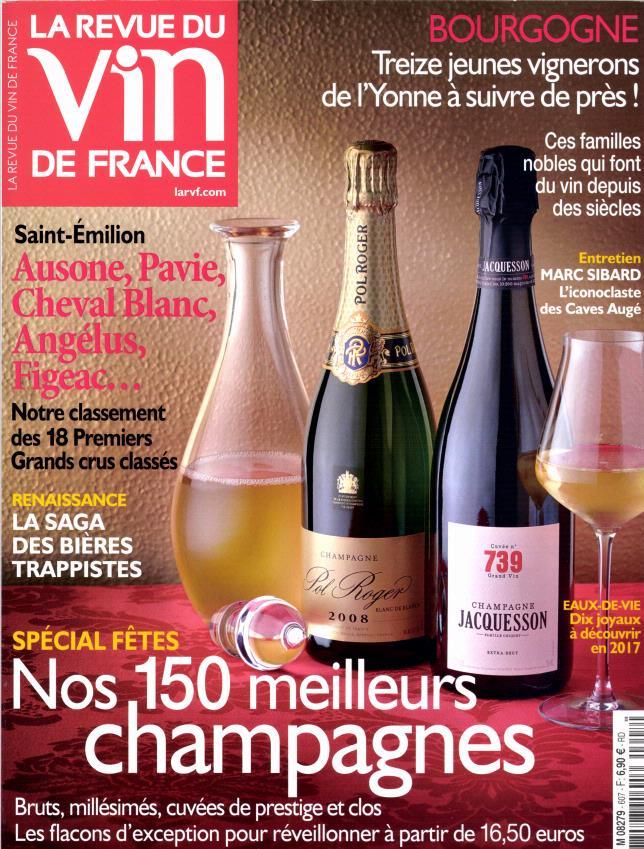 La revue du vin de france n 607 abonnement la revue du for Revue des vins de france