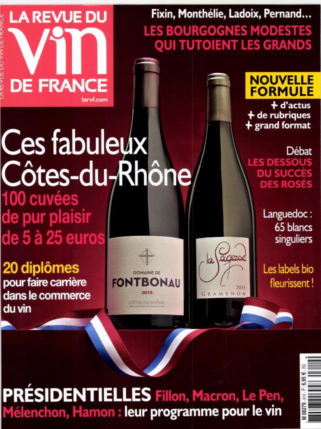 La revue du vin de France N° 611 Avril 2017