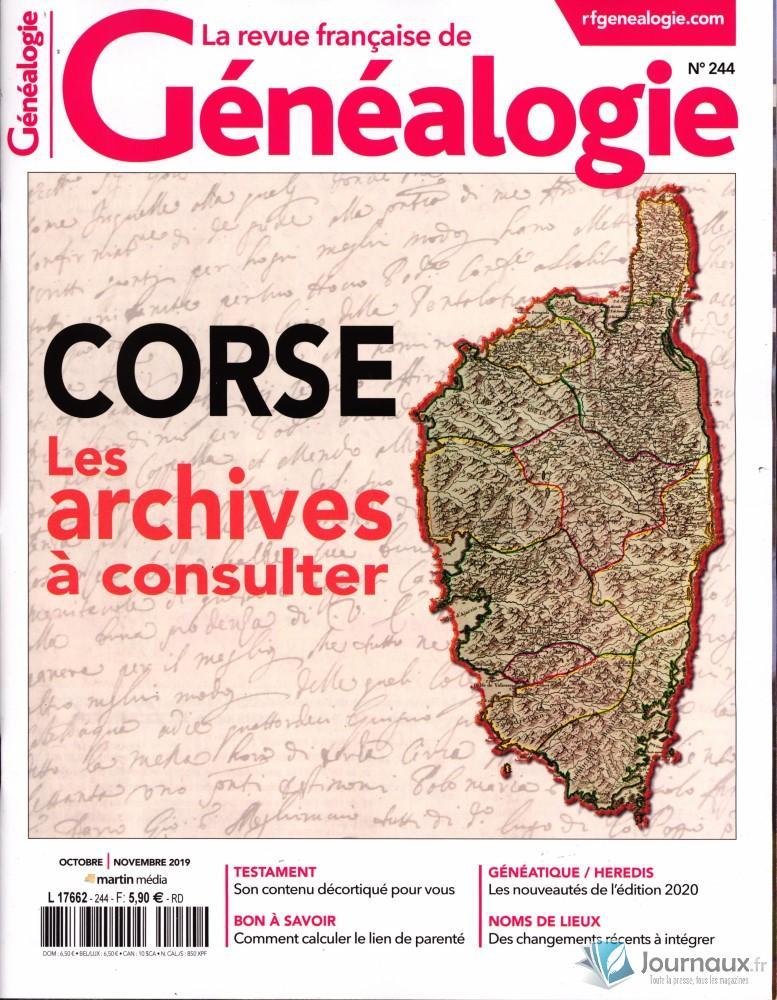 La Revue Française de Généalogie N° 244 Septembre 2019