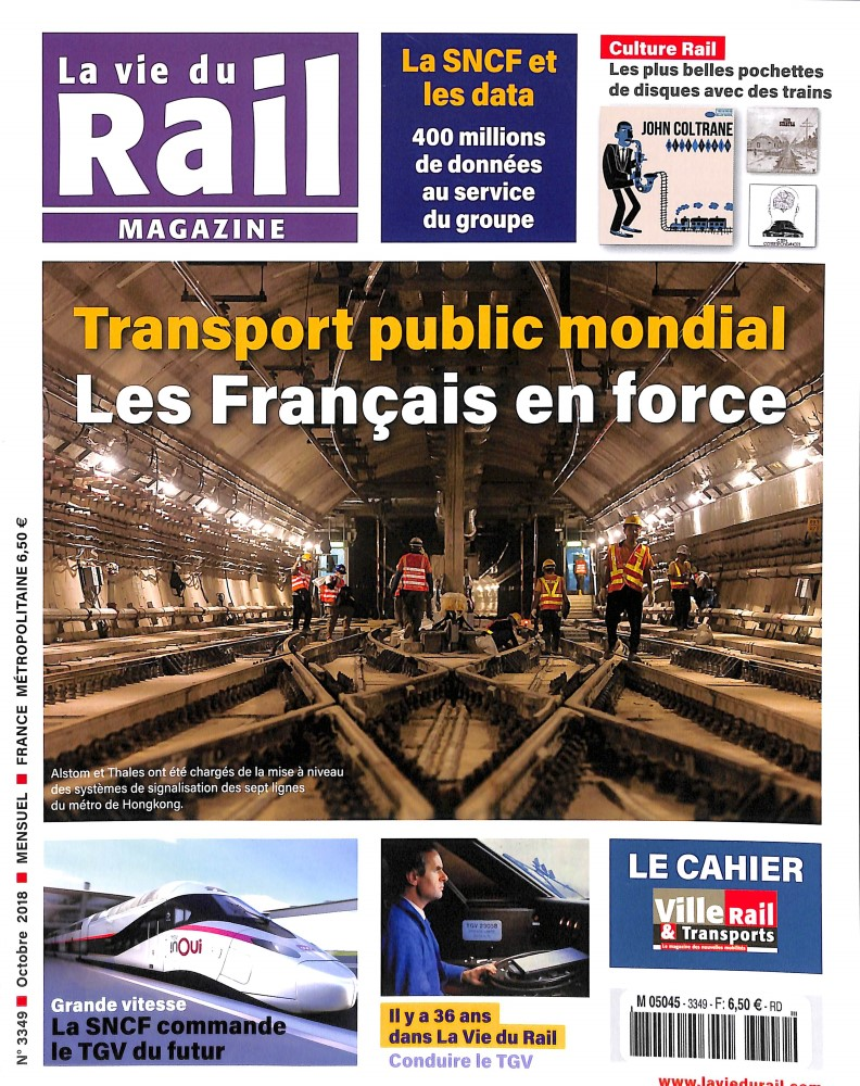 La Vie du Rail Magazine N° 3349 September 2018