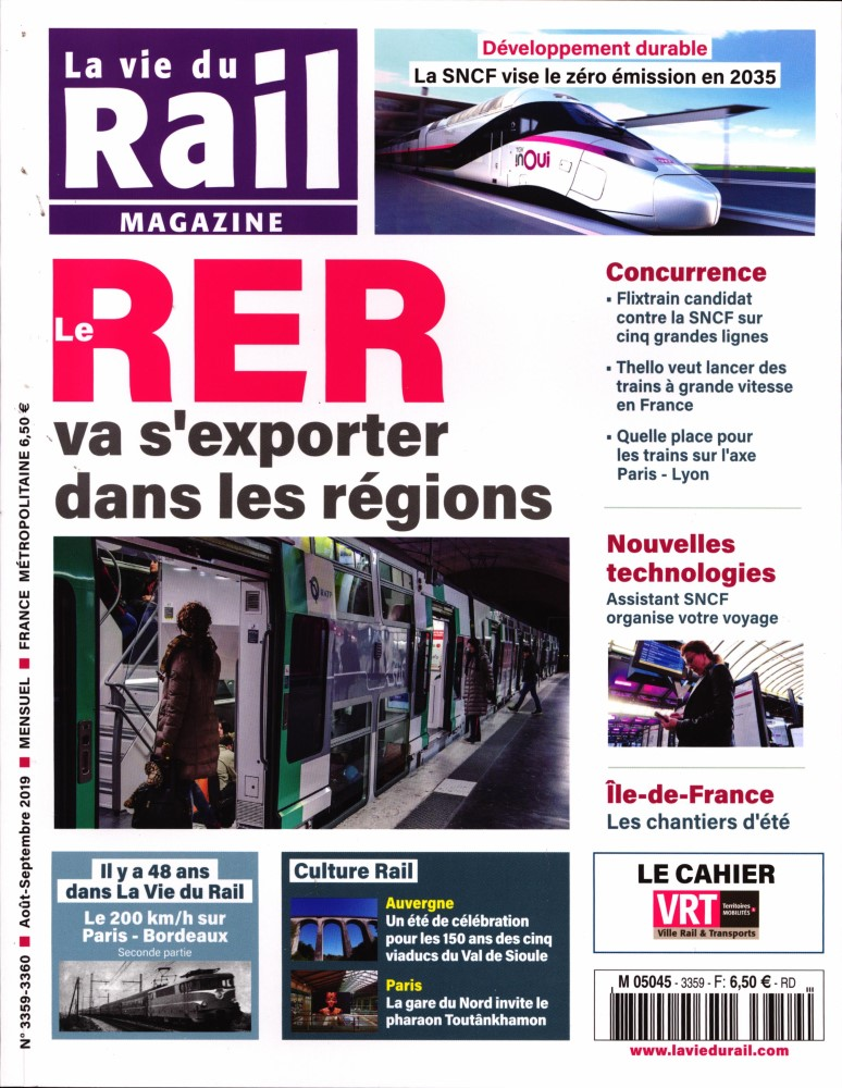 La Vie du Rail Magazine N° 3359 Juillet 2019