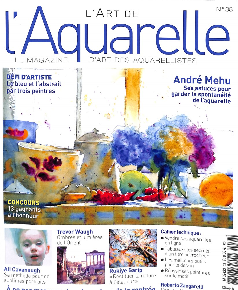 L'art de l'aquarelle N° 38 September 2018
