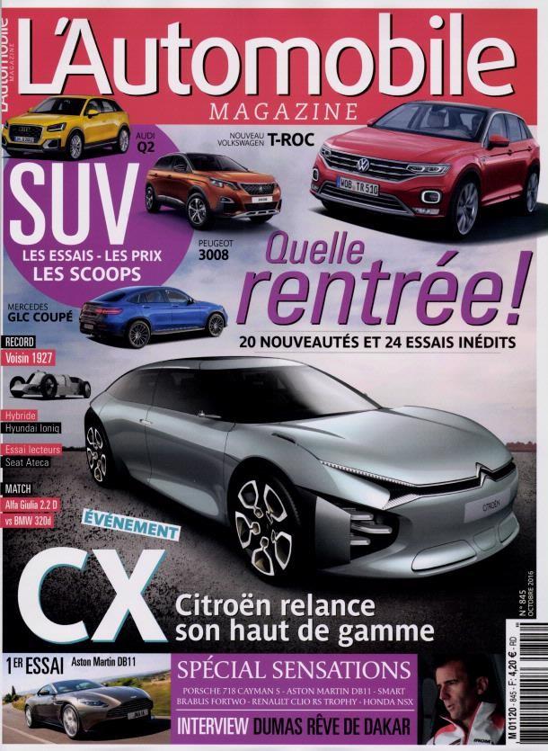 l 39 automobile magazine n 845 abonnement l 39 automobile. Black Bedroom Furniture Sets. Home Design Ideas