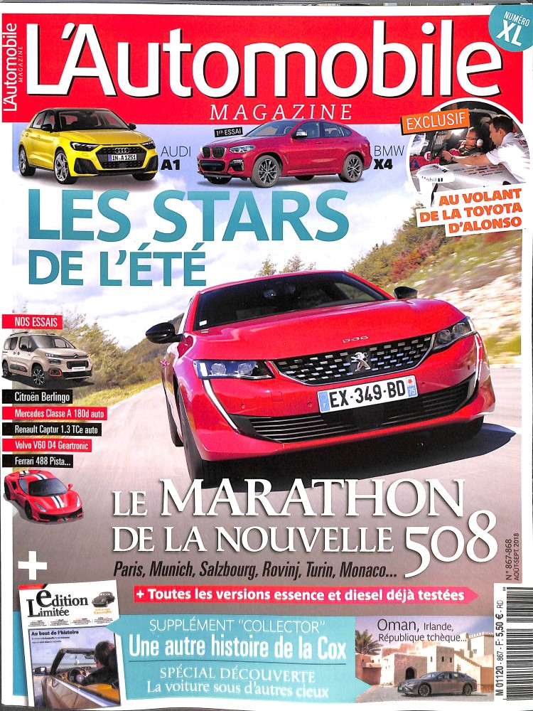 L'Automobile magazine N° 870 September 2018