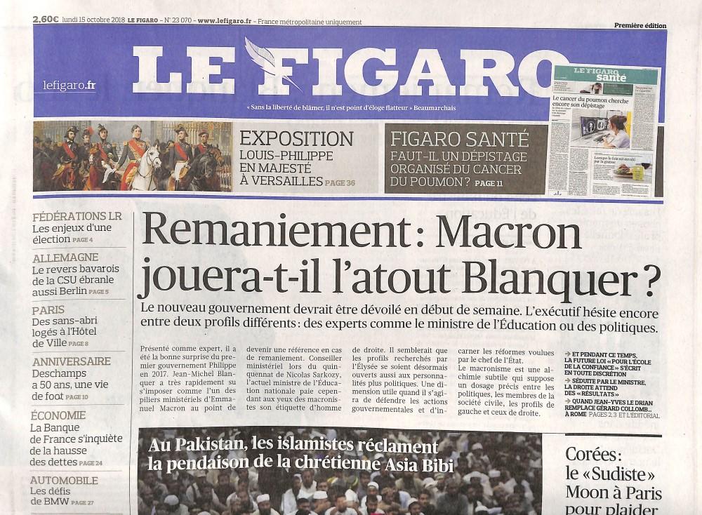 Le Figaro N° 1015 October 2018