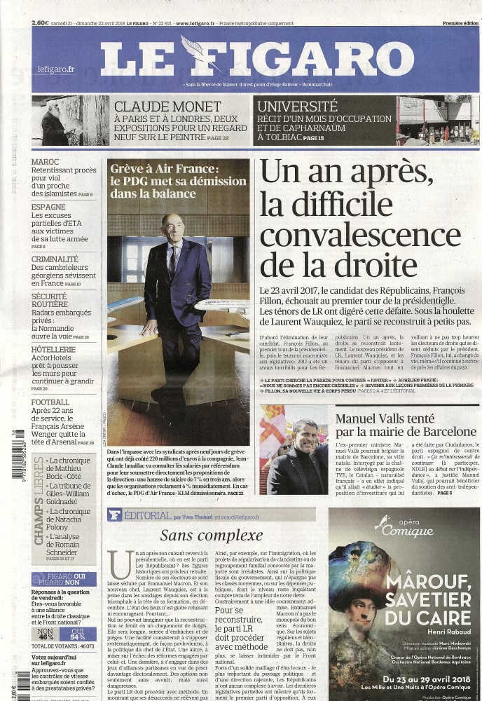 Le Figaro N° 421 April 2018