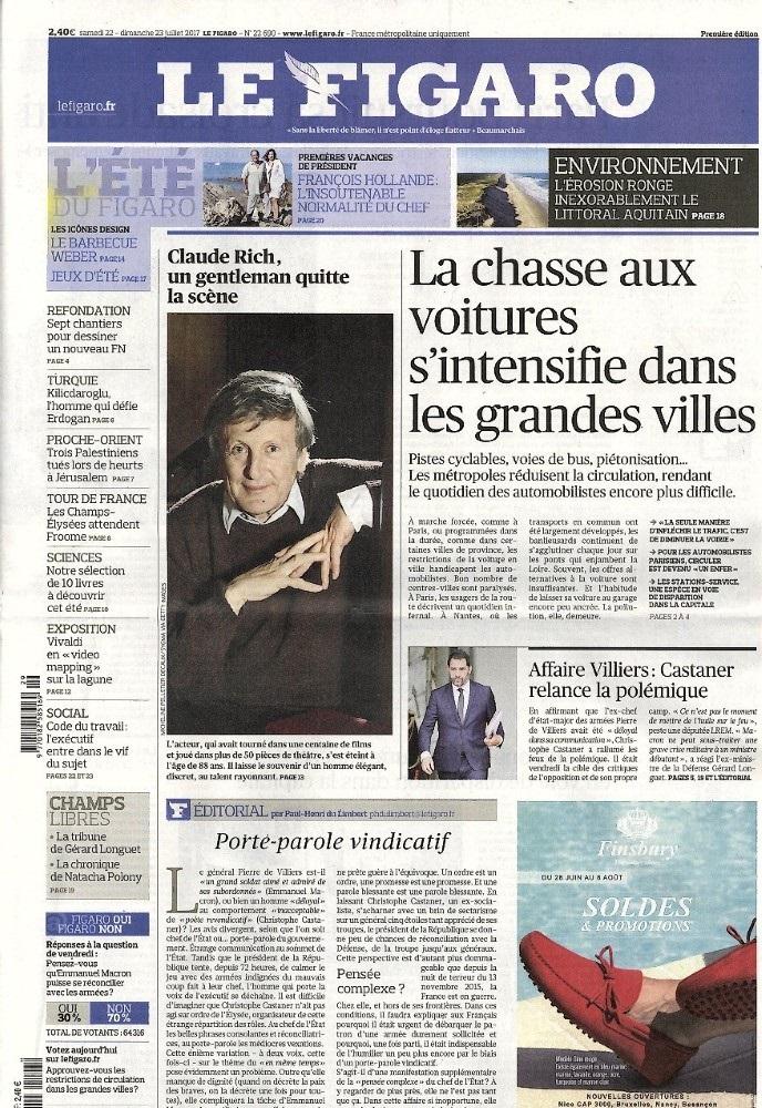 Le Figaro N° 722 Juillet 2017