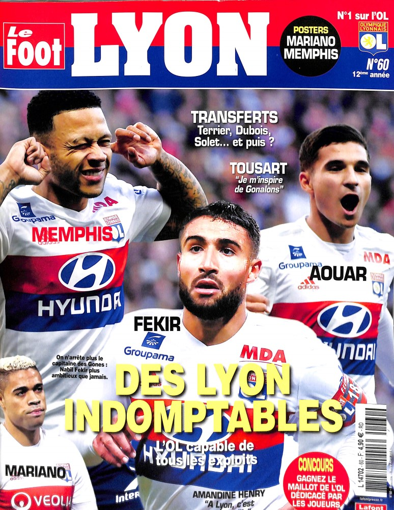 Le Foot Lyon magazine N° 60 February 2018
