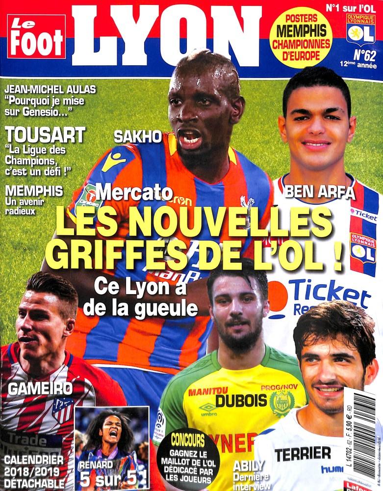 Le Foot Lyon magazine N° 62 June 2018