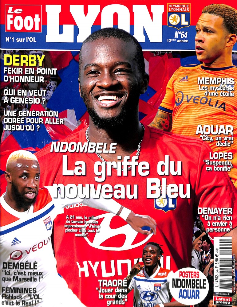 Le Foot Lyon magazine N° 64 October 2018