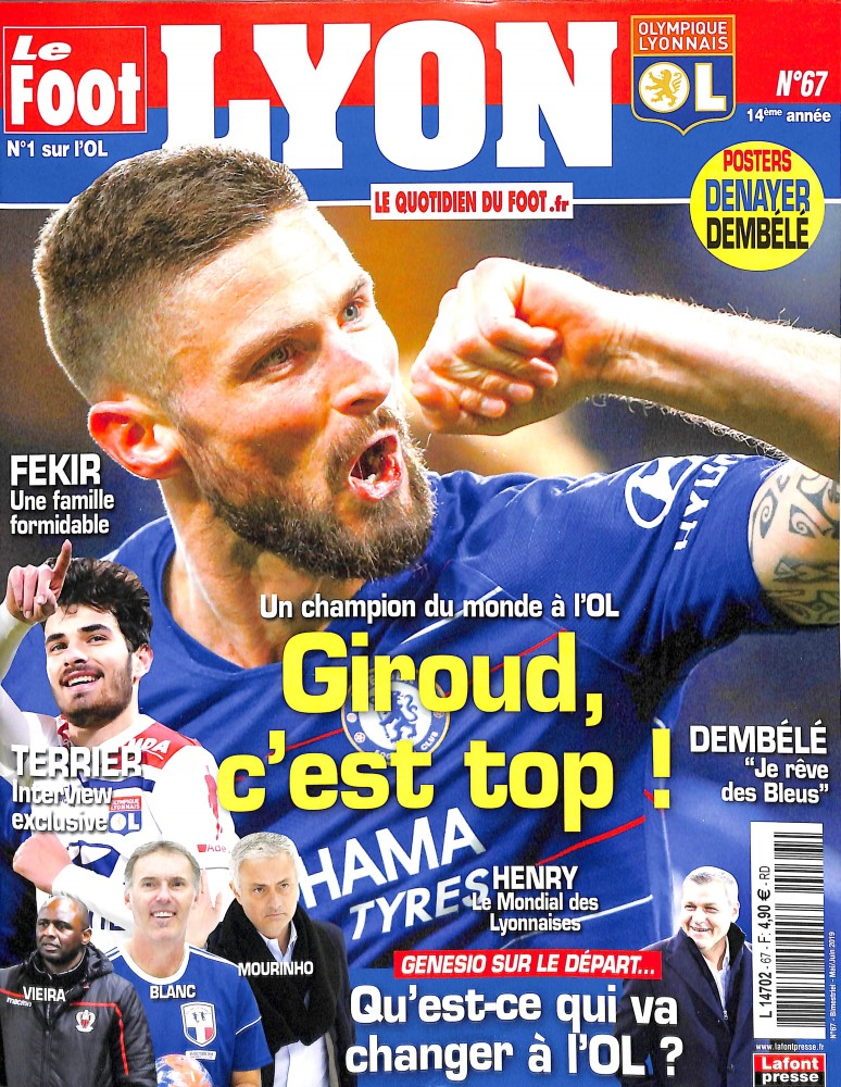 Le Foot Lyon magazine N° 67 Avril 2019