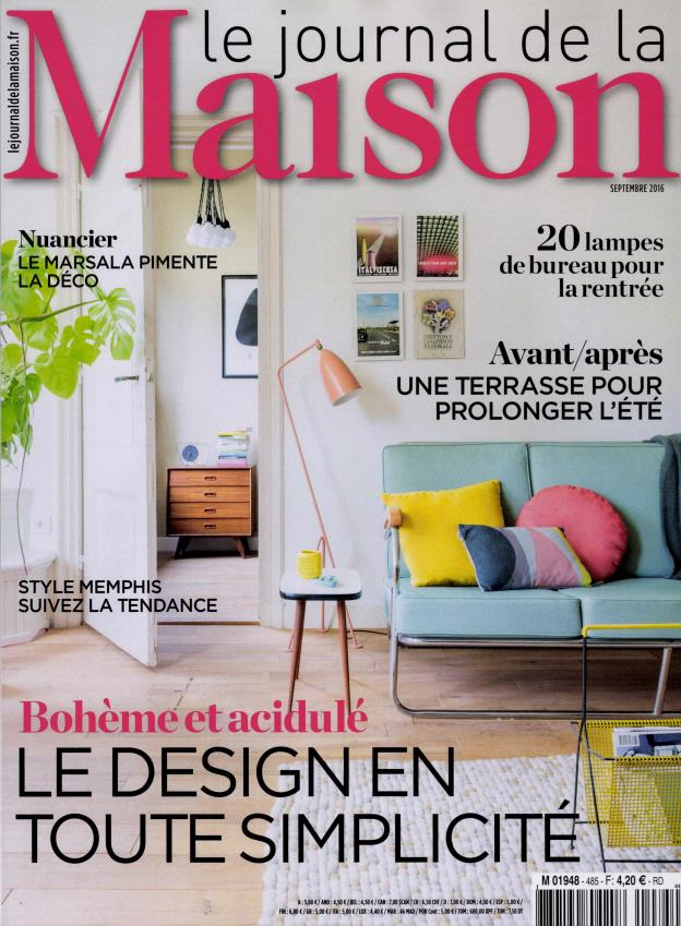 le journal de la maison n 485 abonnement le journal de la maison abonnement magazine par. Black Bedroom Furniture Sets. Home Design Ideas