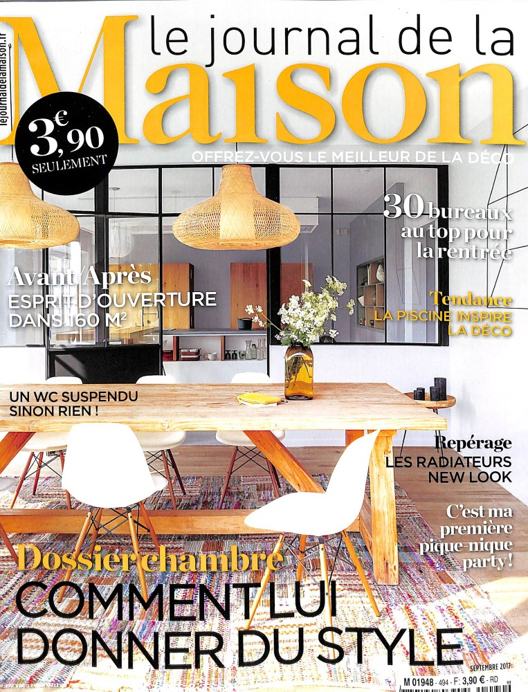 le journal de la maison n 494 abonnement le journal de la maison abonnement magazine par. Black Bedroom Furniture Sets. Home Design Ideas