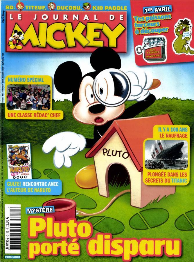 le journal de mickey n 3119 abonnement le journal de mickey abonnement magazine par. Black Bedroom Furniture Sets. Home Design Ideas