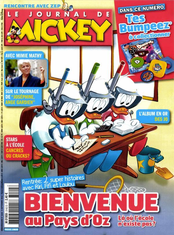 le journal de mickey n 3142 abonnement le journal de mickey abonnement magazine par. Black Bedroom Furniture Sets. Home Design Ideas