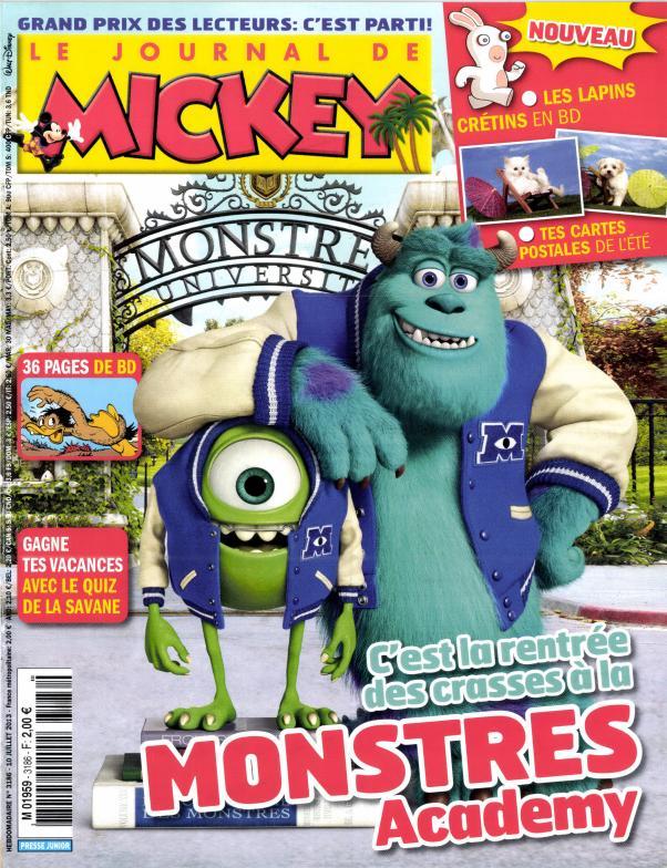 le journal de mickey n 3186 abonnement le journal de mickey abonnement magazine par. Black Bedroom Furniture Sets. Home Design Ideas
