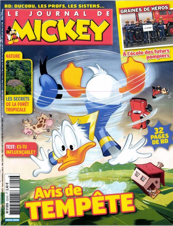 le journal de mickey n 3204 abonnement le journal de mickey abonnement magazine par. Black Bedroom Furniture Sets. Home Design Ideas