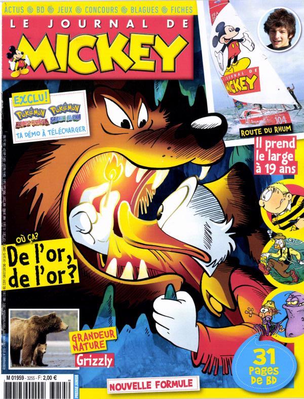 le journal de mickey n 3255 abonnement le journal de mickey abonnement magazine par. Black Bedroom Furniture Sets. Home Design Ideas