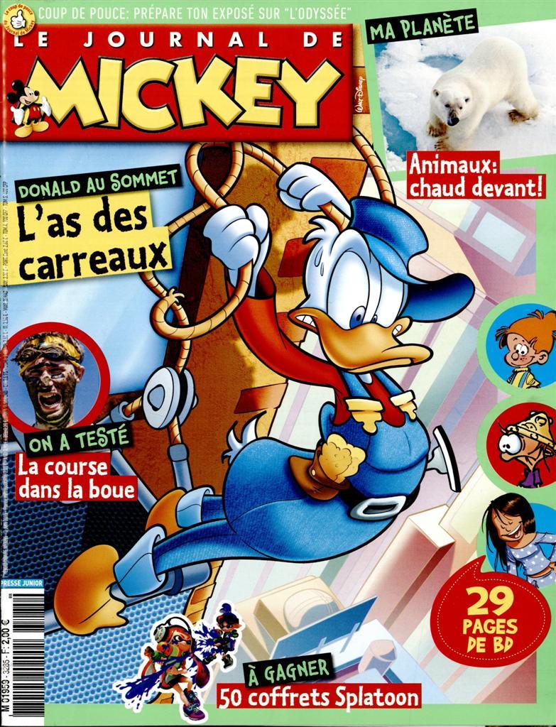 le journal de mickey n 3285 abonnement le journal de mickey abonnement magazine par. Black Bedroom Furniture Sets. Home Design Ideas