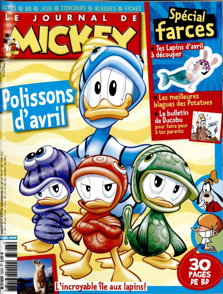 le journal de mickey n 3328 abonnement le journal de mickey abonnement magazine par. Black Bedroom Furniture Sets. Home Design Ideas
