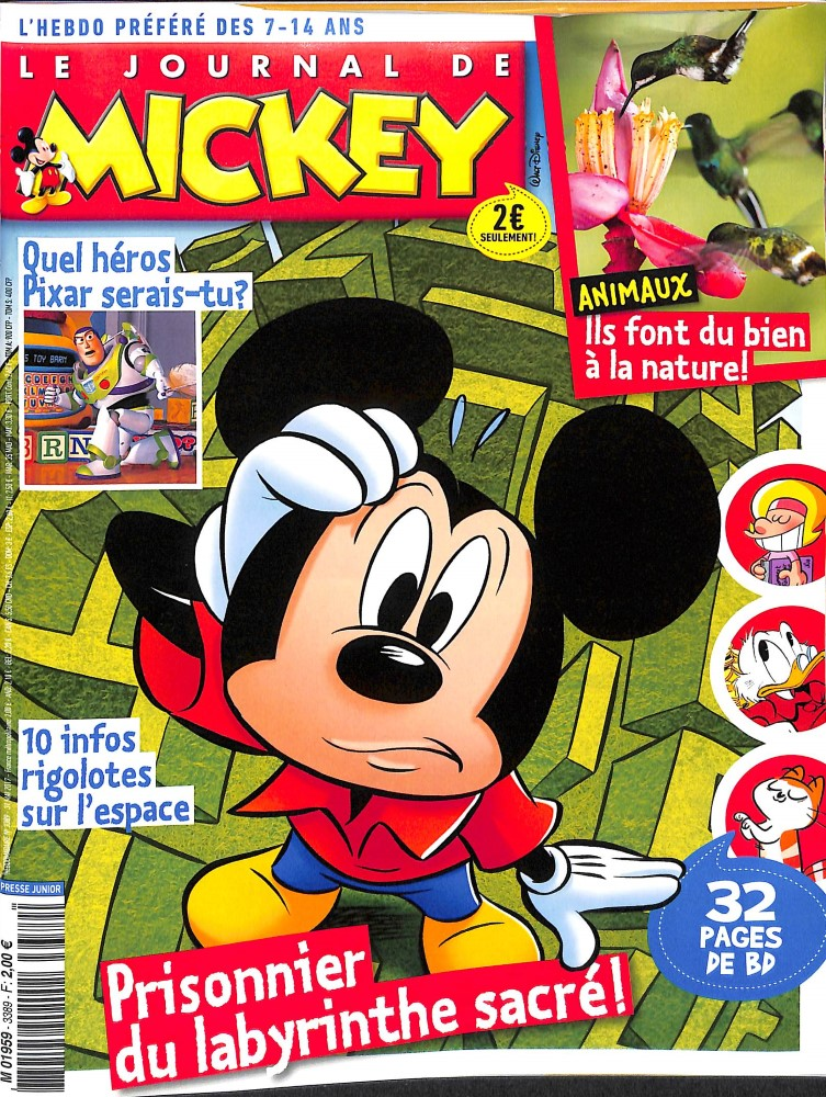 le journal de mickey n 3389 abonnement le journal de mickey abonnement magazine par. Black Bedroom Furniture Sets. Home Design Ideas