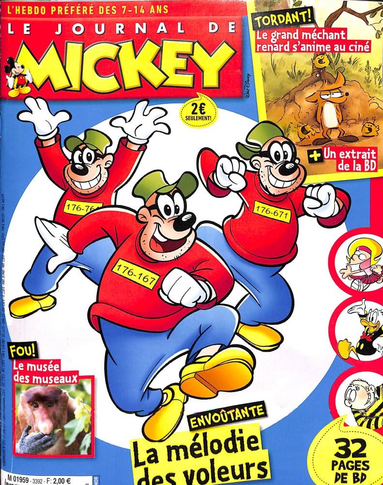 le journal de mickey n 3392 abonnement le journal de mickey abonnement magazine par. Black Bedroom Furniture Sets. Home Design Ideas