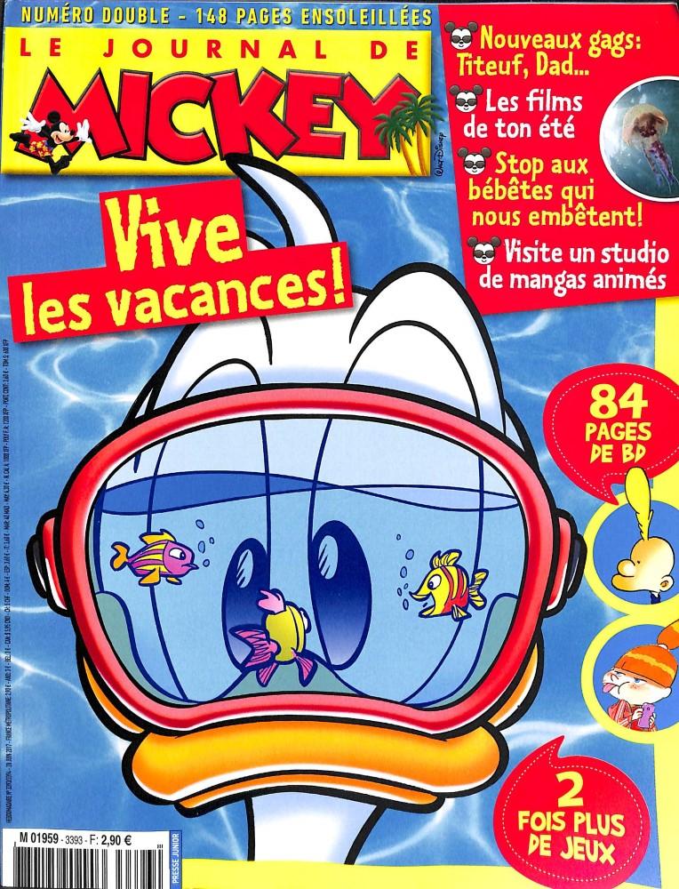 le journal de mickey n 3393 abonnement le journal de mickey abonnement magazine par. Black Bedroom Furniture Sets. Home Design Ideas
