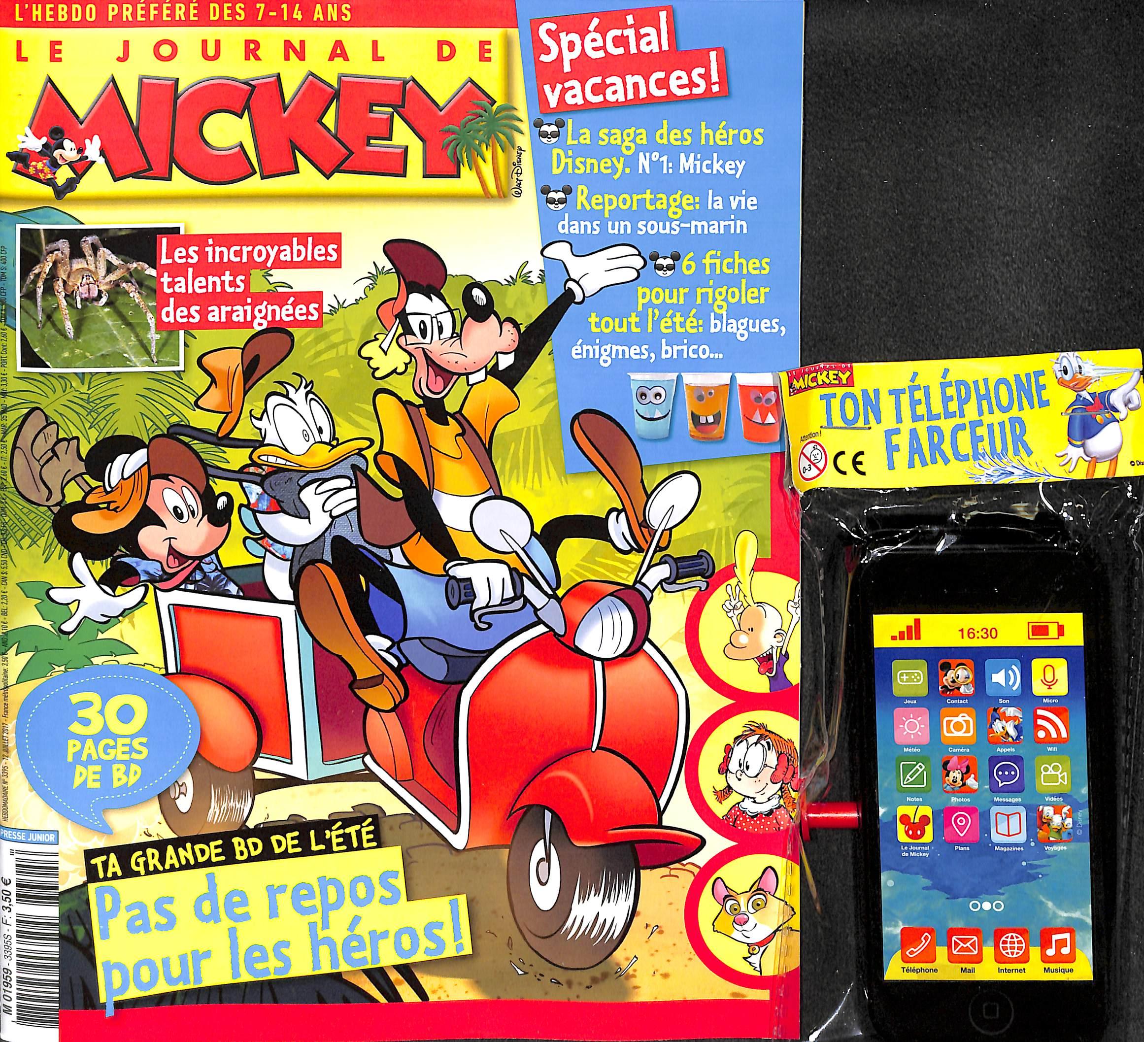le journal de mickey n 3395 abonnement le journal de mickey abonnement magazine par. Black Bedroom Furniture Sets. Home Design Ideas