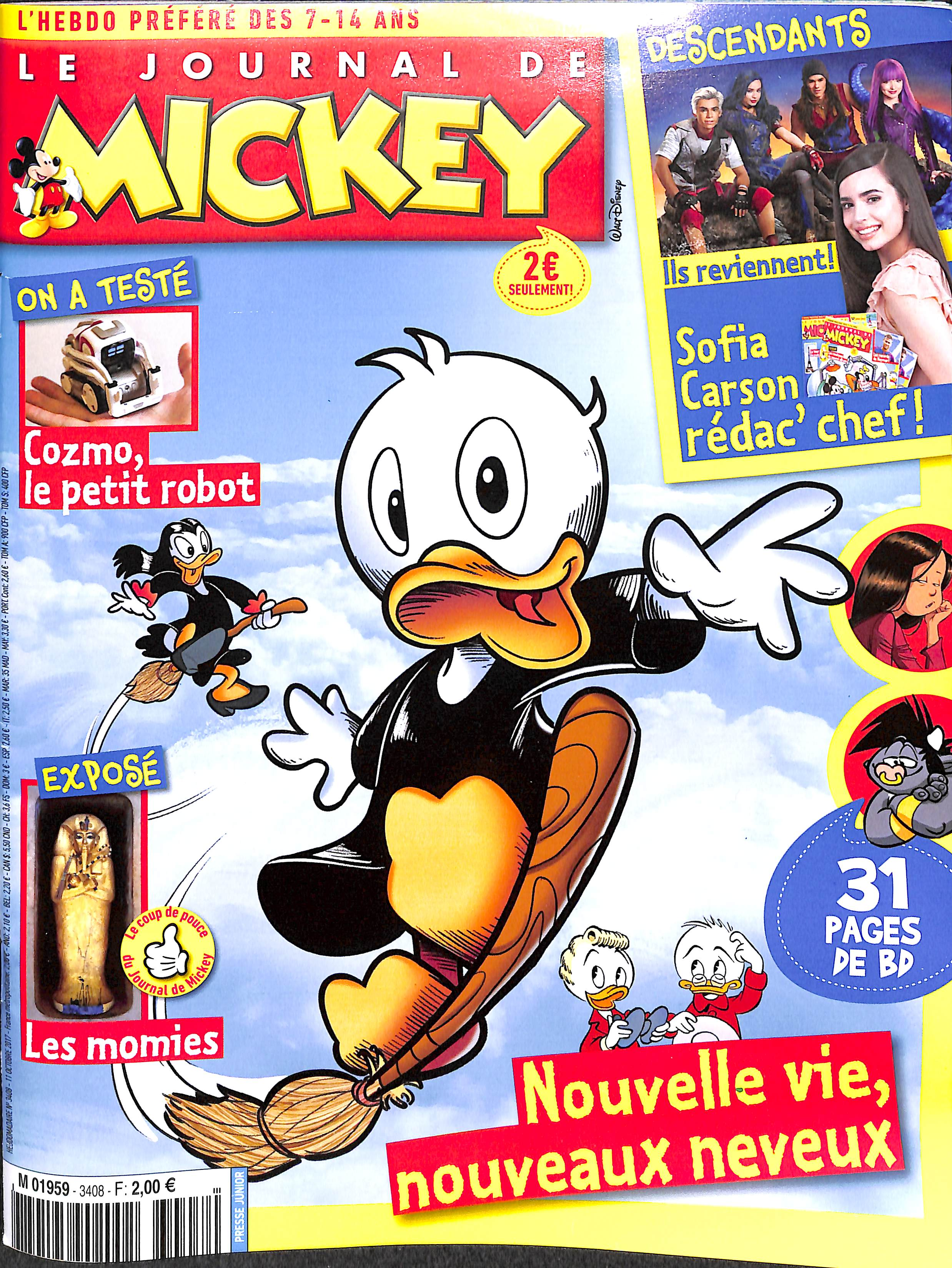 Le Journal de Mickey N° 3409 Octobre 2017