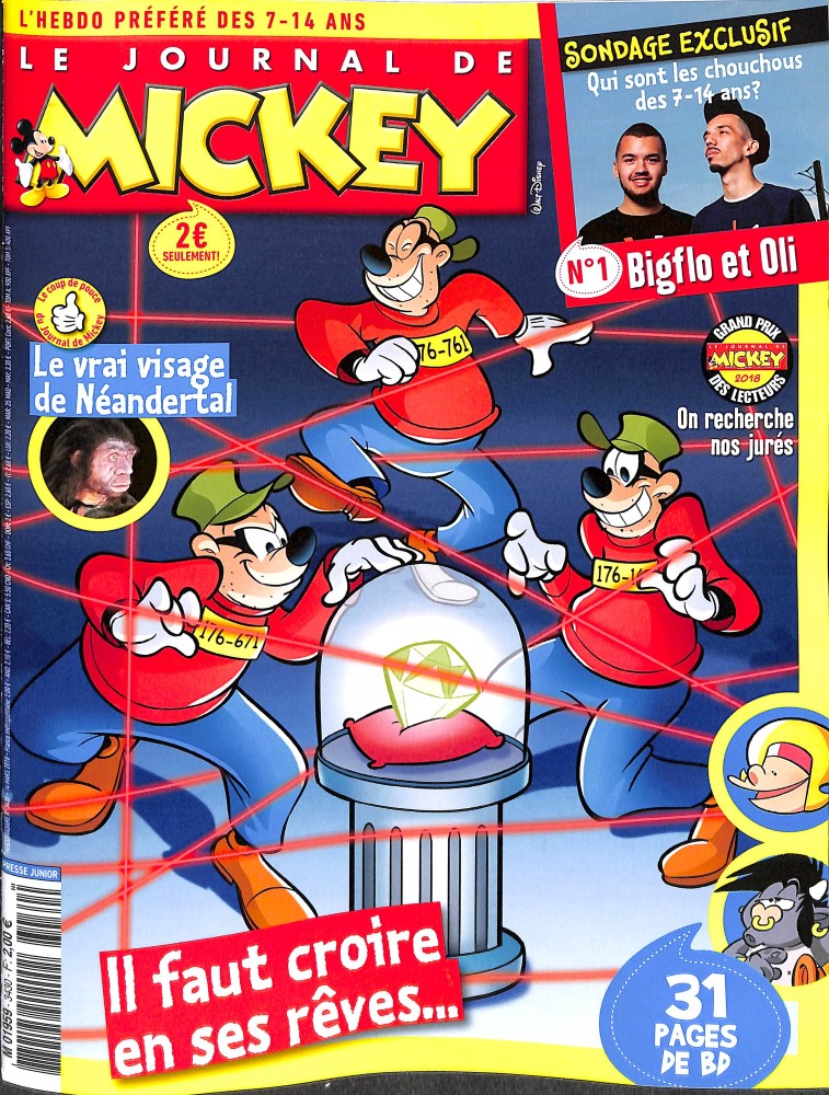 Le Journal de Mickey N° 3430 March 2018