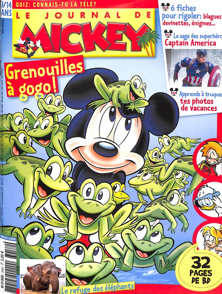 Le Journal de Mickey N° 3452 August 2018