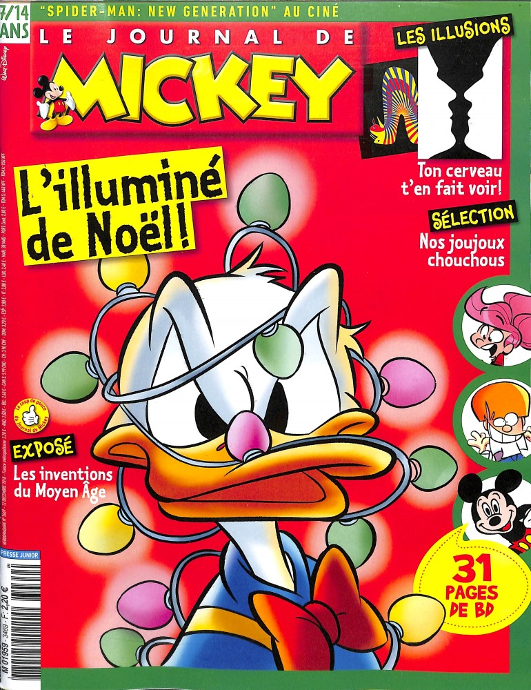 Le Journal de Mickey N° 3469 December 2018