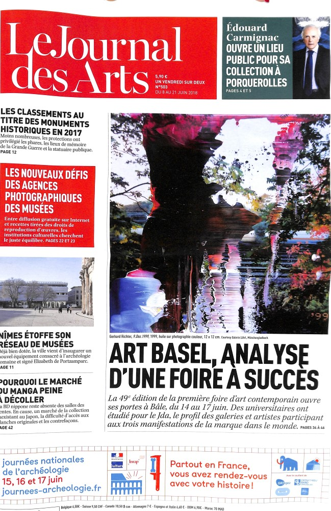 Le Journal des Arts N° 503 June 2018