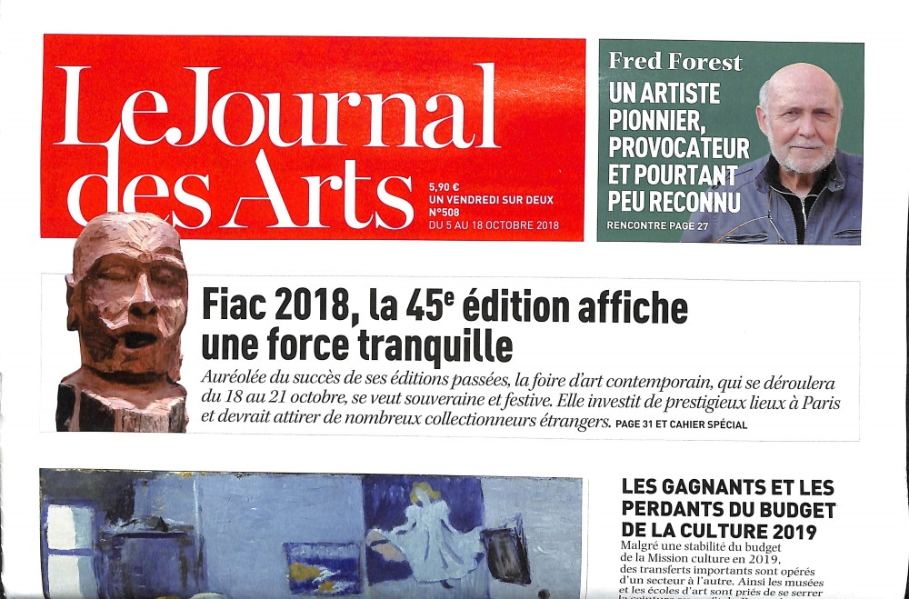 Le Journal des Arts N° 508 October 2018