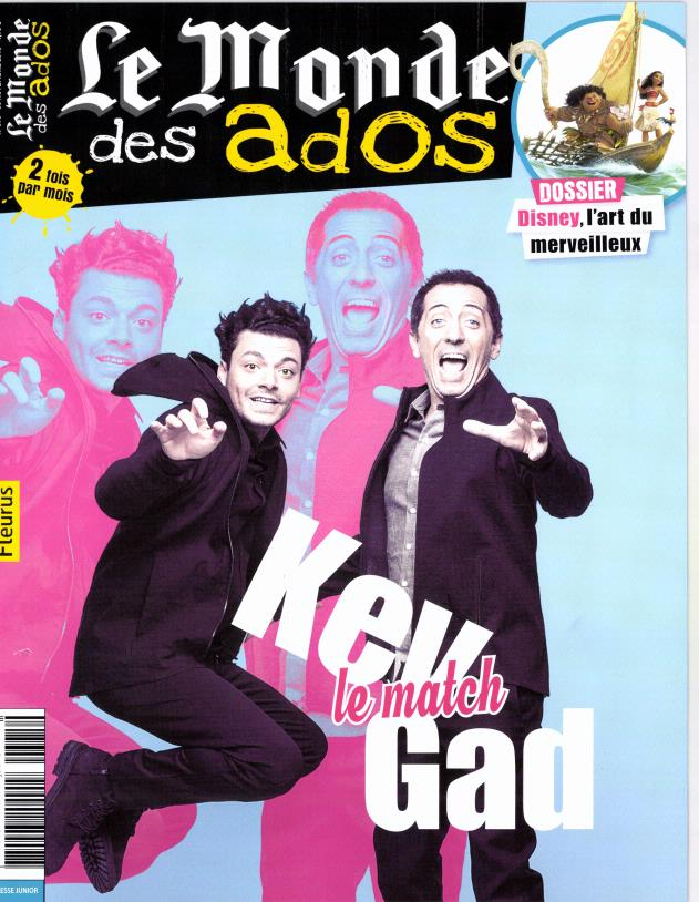 Le Monde des Ados N° 375 Novembre 2016
