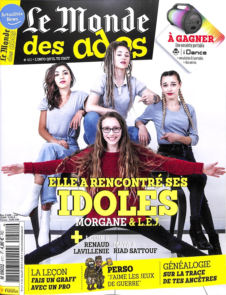 Le Monde des Ados N° 411 July 2018